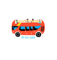 big bus dubai - hand drawing icon travel excursion vector image