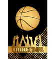 black and gold basketball background vector image vector image