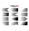 black comic speed motion line collection vector image