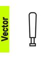 black line baseball bat icon isolated on white vector image vector image