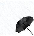 black umbrella in the rain vector image