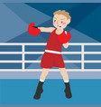 boxing athletic sport cartoon set vector image vector image