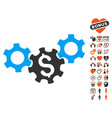business gears icon with love bonus vector image vector image