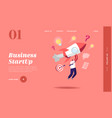 business startup launch competition landing page vector image