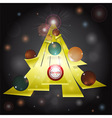Christmas tree abstract glowing background vector image vector image
