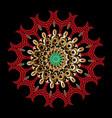 colorful ornamental greek mandala pattern vector image vector image