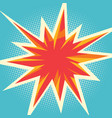 comic flash in form multipath stars vector image vector image