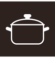 Cooking pot symbol vector image vector image