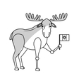 deer cartoon icon vector image vector image