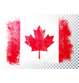 Distressed grunge flag canada