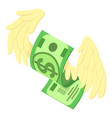 dollar wings icon isometric style vector image