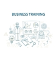 doodle style design concept business training vector image vector image