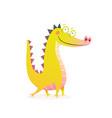dragon crocodile or alligator funny character vector image vector image