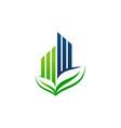 eco building logo design template vector image