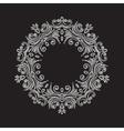 Elegant luxury vintage circle silver floral frame vector image vector image