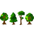 four decorative trees vector image