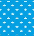 garlic pattern seamless blue vector image vector image