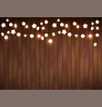 glowing lights garland vector image