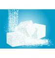 granulated sugar and lump sugar vector image