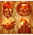 Halloween signes on Wood Texture vector image