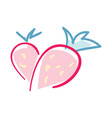happy valentine day icon with strawberry vector image vector image