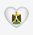 heart shaped national symbol egypt coat of vector image vector image