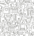 Household appliances seamless pattern vector image vector image