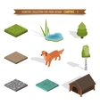 Isometric 3d forest camping vector image vector image
