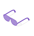 Isometric 3d of shutters shades glasses vector image vector image
