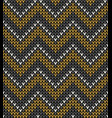knitting pattern zigzag seamless background vector image