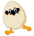 Little chicken cartoon in egg vector image vector image