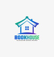 logo book house gradient colorful style vector image vector image