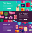 lot of gift boxes or packages vector image vector image