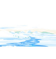mountain river ice melting spring landscape vector image vector image