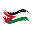 national flag of jordan designed using brush vector image vector image