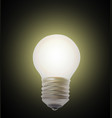 naturalistic lit glowing light bulb lighting on vector image