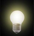 naturalistic lit glowing light bulb lighting vector image vector image