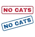 No Cats Rubber Stamps vector image