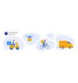 online delivery service concept online order vector image vector image