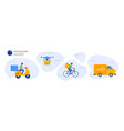 online delivery service concept order vector image vector image