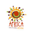 original african abstract logo template vector image vector image