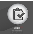 paper pen Flat modern web button with long shadow vector image vector image