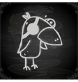 Parrot Drawing on Chalk Board vector image vector image