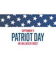 patriot day september 11 template for background vector image vector image
