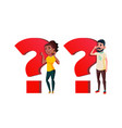 people asking question cartoon characters vector image
