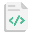php file flat icon vector image