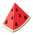 piece watermelon icon isometric 3d style vector image