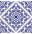 porcelain decorative design vector image vector image