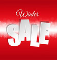 red sale poster with snowflakes vector image