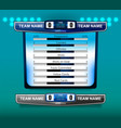 scoreboard broadcast and lower thirds template vector image